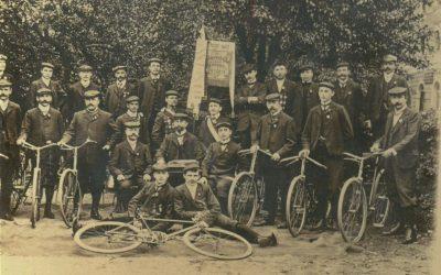 Erstes bekannte Bild des Velozipedklub Corona Weiden aus dem Jahre 1906