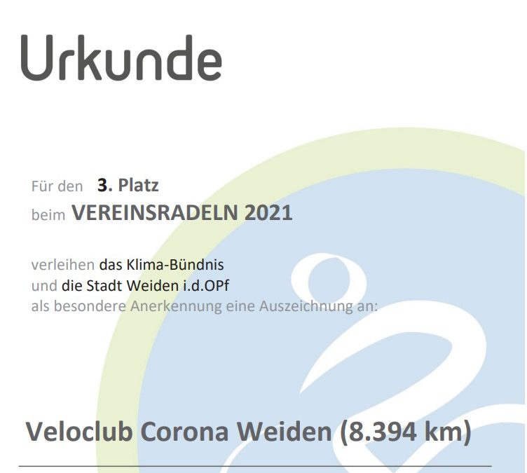 Stadtradeln 2021 Ergebnisse